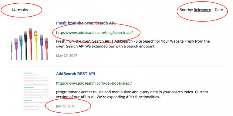 Separate Results Page's Settings - AddSearch Documentation