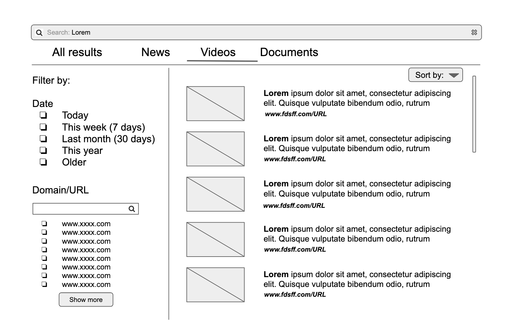 AddSearch wireframe example