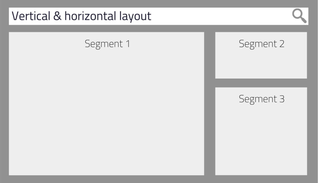 Combine horizontal and vertical layout